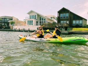 Cecillia Nichols / Advance-Titan UWO student Gwen Nichols kayaking with her friend Haley Cheney in Corpus Christi, Texas during spring break 2019 before COVID-19.
