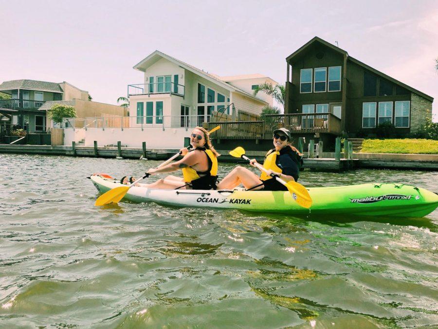 Cecillia Nichols / Advance-Titan UWO student Gwen Nichols kayaking with her friend Haley Cheney in Corpus Christi, Texas during spring break 2019 before COVID-19.