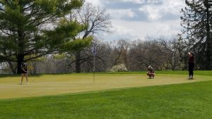Courtesy of Beth Hubbard Freshman Ava Downie shot an 18-hole score of 88 at the UW-Whitewater spring fling meet. This was landed her in 25th place overall among the 57 women competing at the event. Downie's lowest round of the year was an 82 at the UW-Whitewater Invitational on April 17.