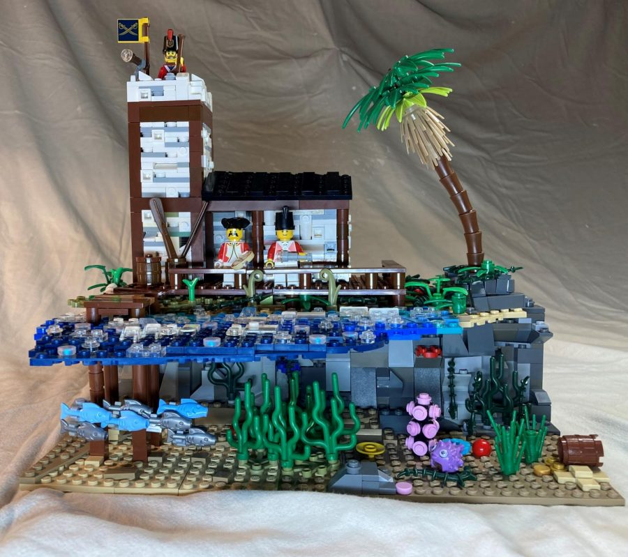 "Courtesy of Oshkosh Public Library ""Tropical Outpost,"" the first place winner for ages 9-10."