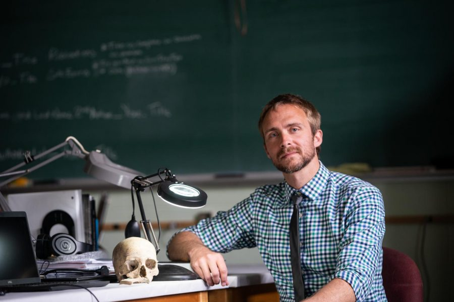 Courtesy of UWO Flickr UW Oshkosh Associate Professor of anthropology Jordan Karsten hopes to help solve a cold case.