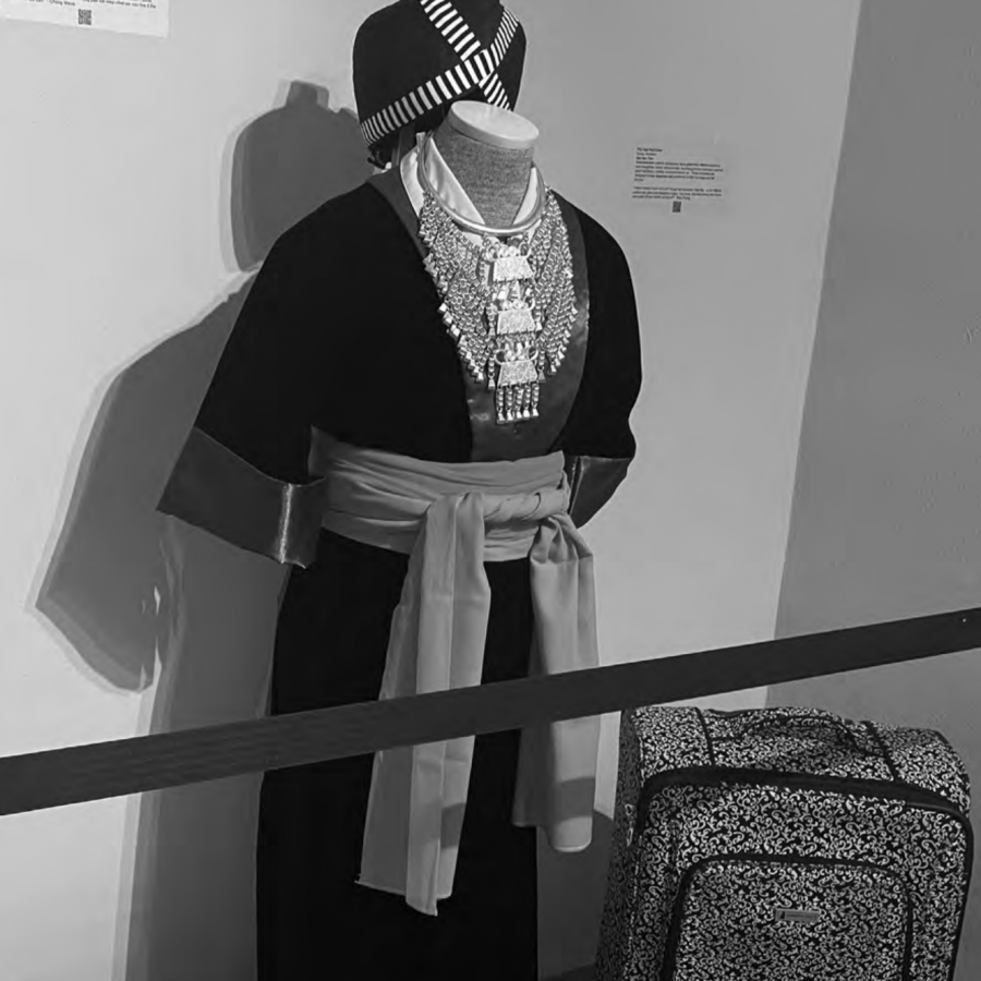 "Courtesy of Kylie Balk-Yaatenen / Advance-Titan ""The Battlefields of Memory,"" a new exhibit in the Annex Art Gallery, explores hope through the artifacts, objects and stories of Hmong people's lived experience of war and living in America."