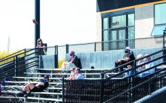 April Lee / Advance-Titan Fans were seen on the bleachers at a UWO athletic event for the first time since the winter season of 2020. The change comes following an update in WIAC spectator policy