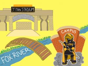 Katie Pulvermacher / Advance-Titan The J. J. Keller Field at Titan Stadium is a 40 minutes walk away the main UWO campus.
