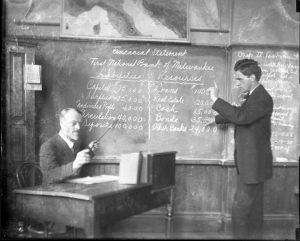 Frederick Clow with student