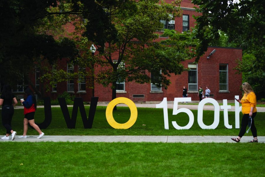 April Lee / Advance-Titan  UW Oshkosh celebrated 150 years of academic instruction last Sunday. Back in 1871, when the school opened, it was just a teachers college referred to as the Oshkosh Normal School.