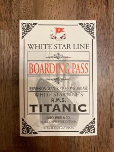 Courtesy of Arshales Peterson The Titanic exhibit explores 20 passengers and their stories.